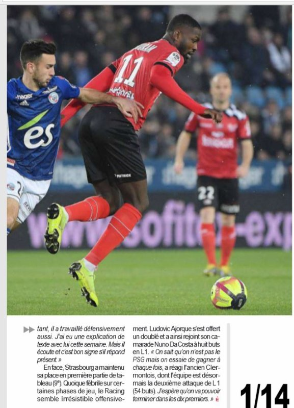 2018 Ligue 1 J32 STRASBOURG GUINGAMP 3-3, le 13/04/2019