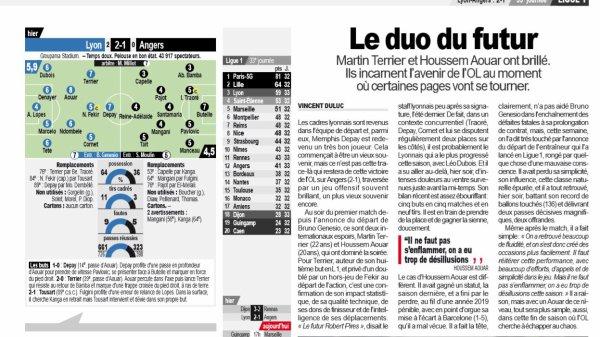 2018 Ligue 1 J33 LYON ANGERS 2-1 , le 19/04/2019