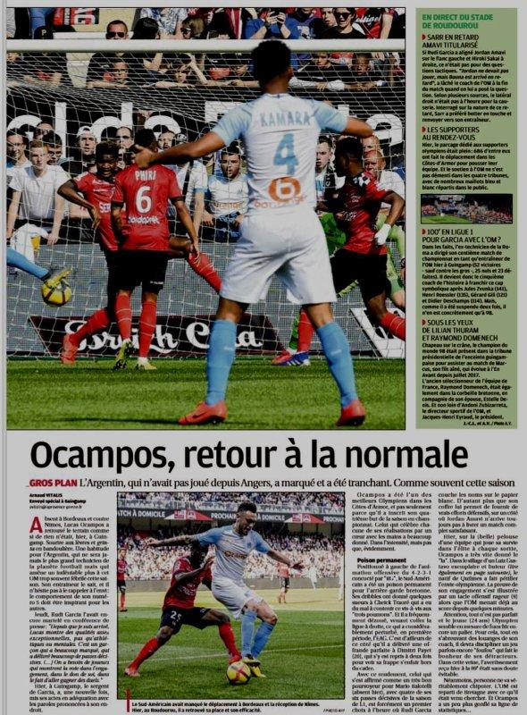 2018 Ligue 1 J33 GUINGAMP MARSEILLE 1-3, le 20/04/2019