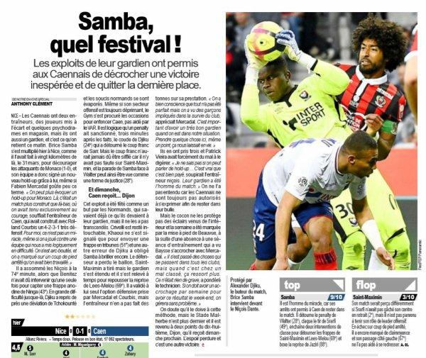 2018 Ligue 1 J33 NICE CAEN 0-1, le 20/04/2019