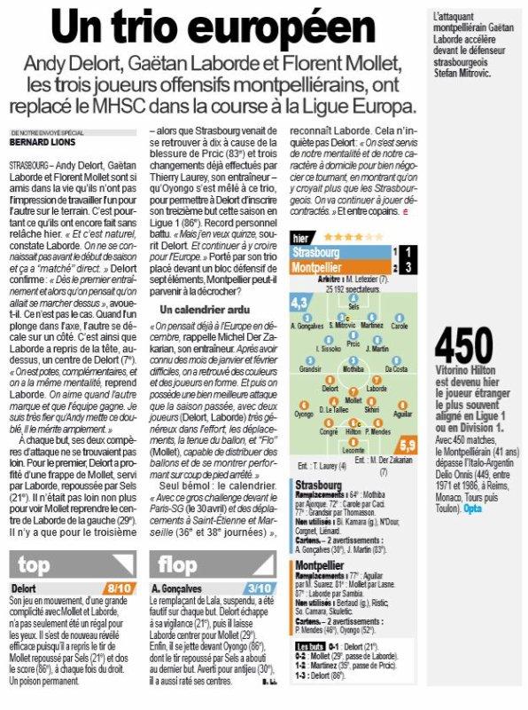 2018 Ligue 1 J33 STRASBOURG MONTPELLIER 1-3 , le 20/04/2019