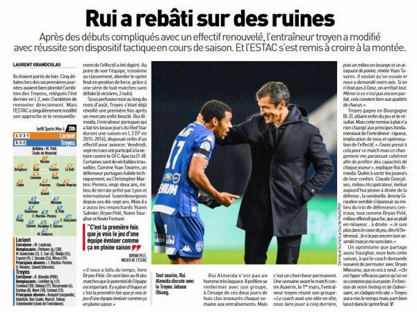 2018 Ligue 2 J33 LORIENT TROYES 0-3, le 19/04/2019