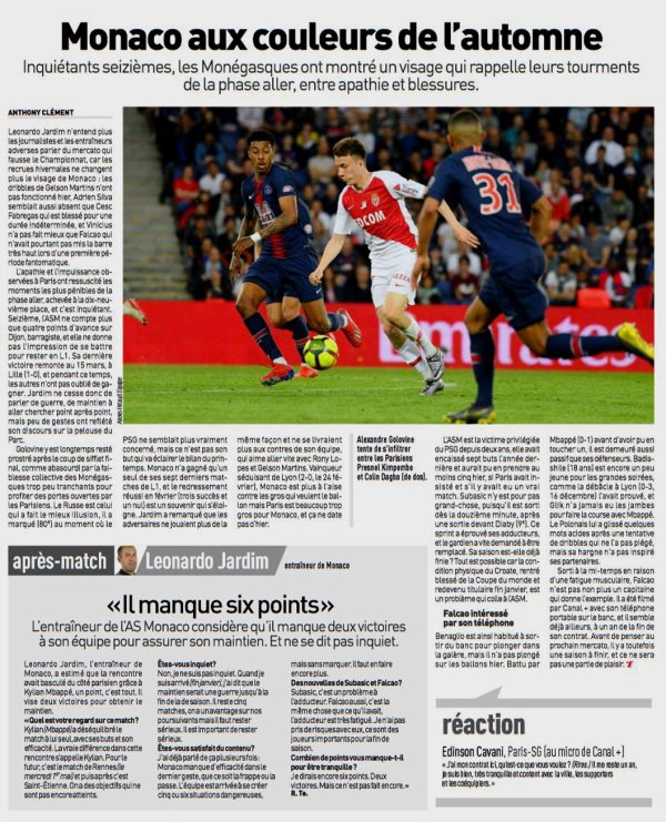 2018 Ligue 1 J33  PSG MONACO 3-1, le 21/04/2019