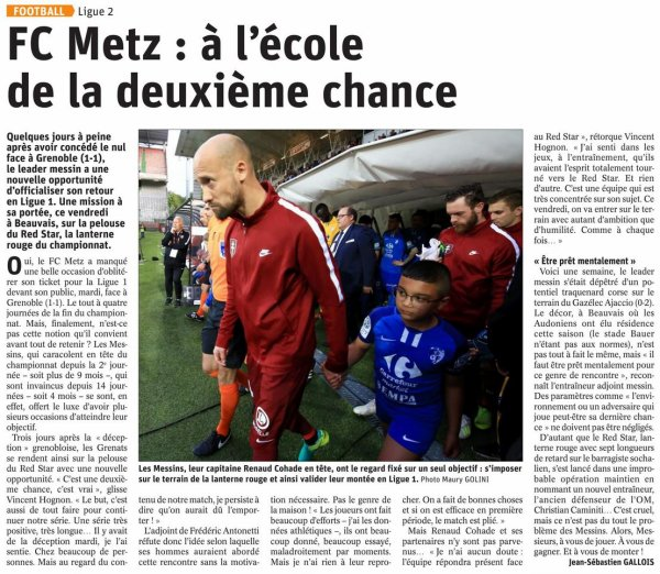 2018 Ligue 2 J35 RED STAR METZ 1-2, le 26/04/2019