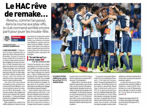 2018 Ligue 2 J35 CHÂTEAUROUX LE HAVRE 1-0, le 26/04/2019