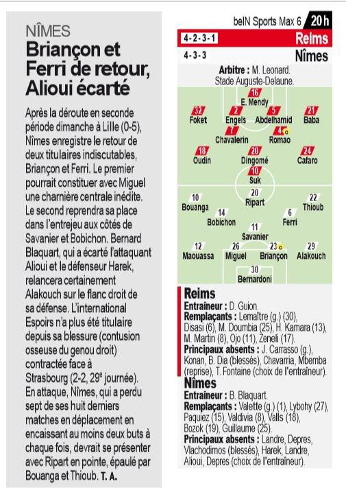 2018 Ligue 1 J35 REIMS NÎMES, l'avant match, le 04/05/2019