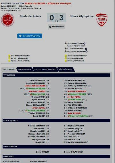 2018 Ligue 1 J35 REIMS NÎMES 0-3, le 04/05/2019
