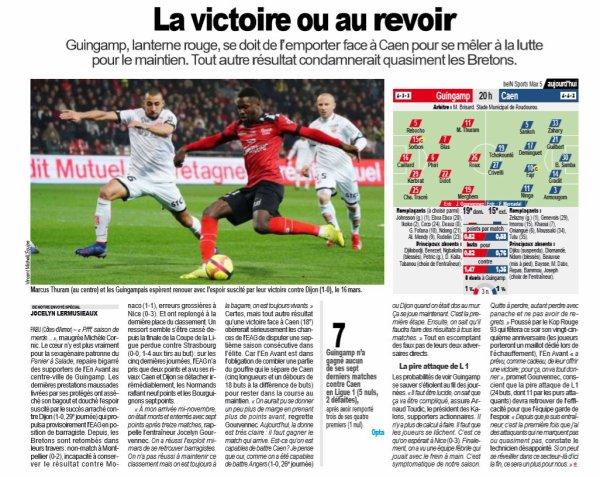 2018 Ligue 1 J35 GUINGAMP CAEN 0-0, le 04/05/2019