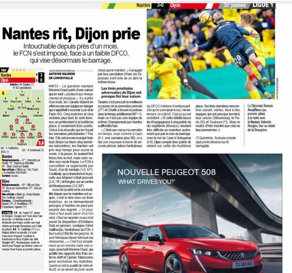 2018 Ligue 1 J35 NANTES DIJON 3-0, le 05/05/2019