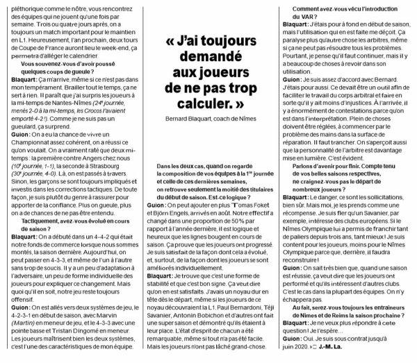 2018 Ligue 1 J35 REIMS NÎMES : ÊTRE COACH de PROMUS, le 07/05/2019
