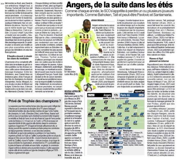 2018 Ligue 1 J36 ANGERS PSG 1-2, le 11/05/2019