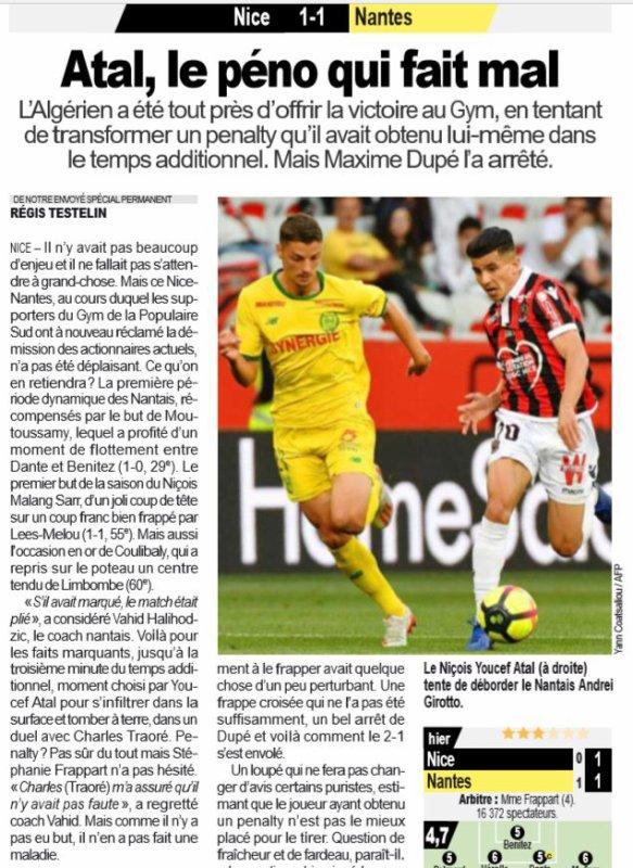 2018 Ligue 1 J36 NICE NANTES 1-1, le 11/05/2019