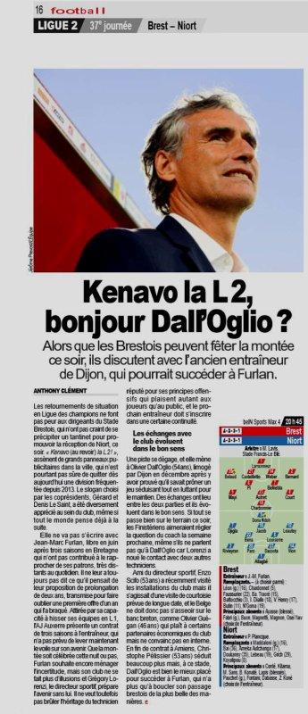 2018 Ligue 2 J37 BREST NIORT 3-0, le 10/05/2019