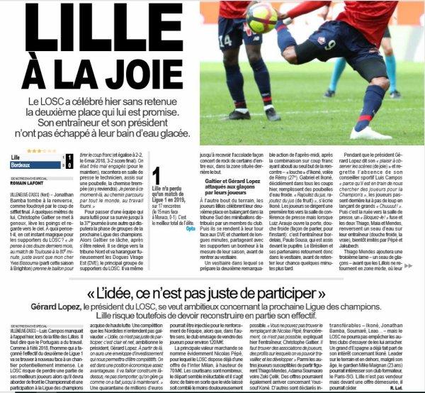 2018 Ligue 1 J36 LILLE BORDEAUX 1-0, le 12/05/2019