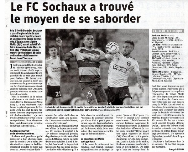 2018 Ligue 2 J36 SOCHAUX RED STAR 1-2, le 03/05/2019