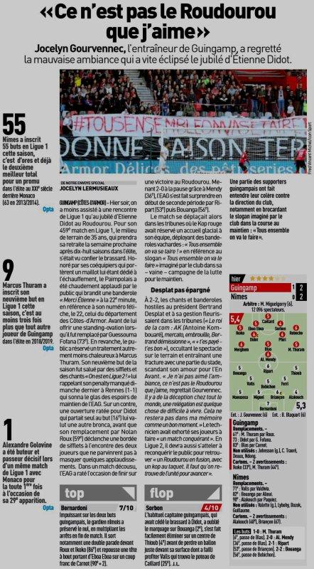 2018 Ligue 1 J37 GUINGAMP NÎMES, le 18/05/2019