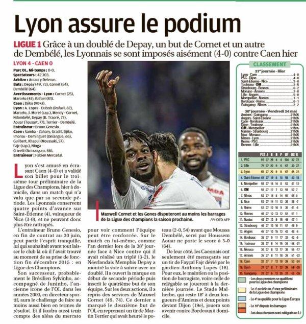 2018 Ligue 1 J37 LYON CAEN, le 18/05/2019