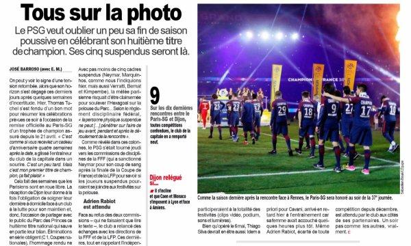 2018 Ligue 1 J37 PSG DIJON , le 18/05/2019