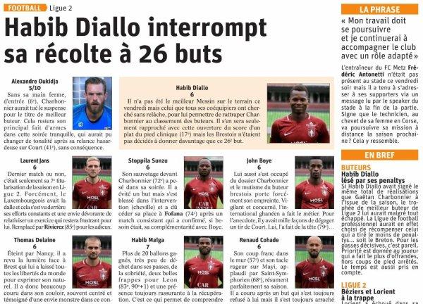 2018 Ligue 2 J38 METZ BREST 1-0, le 17/05/2019