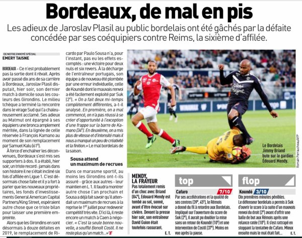 2018 Ligue 1 J37 BORDEAUX REIMS 0-1 , le 18/05/2019