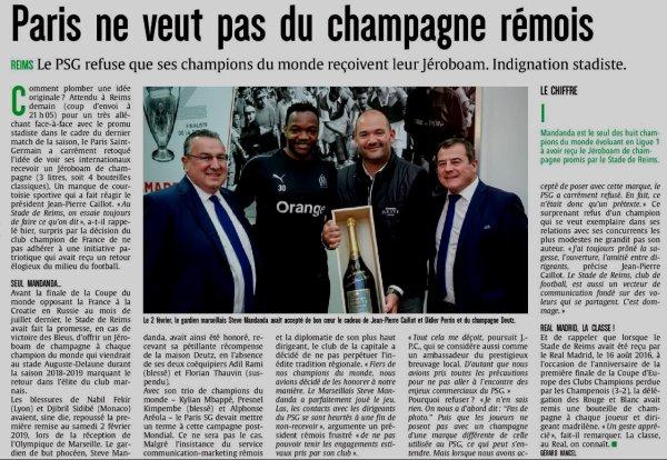 2018 Ligue 1 J38 REIMS PSG , pas de BULLES pour MBAPPE, le 24/05/2019