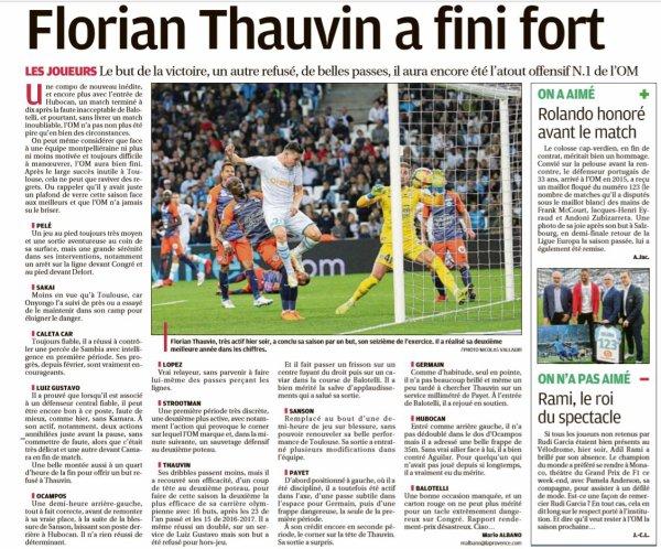 2018 Ligue 1 J38 MARSEILLE MONTPELLIER , le 24/05/2019