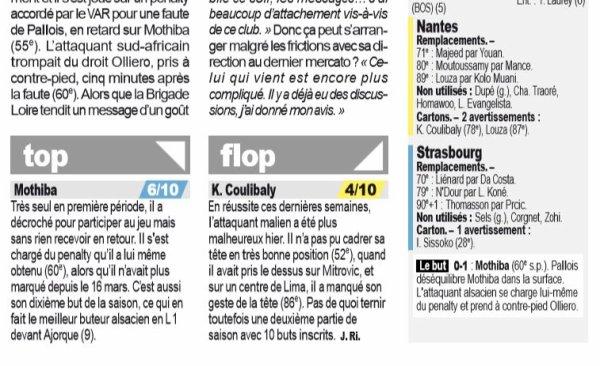 2018 Ligue 1 J38 NANTES STRASBOURG 0-1, le 24/05/2019