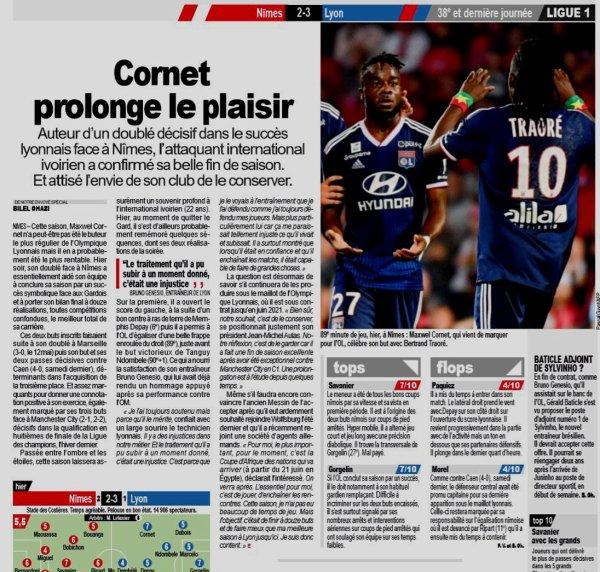 2018 Ligue 1 J38 NÎMES LYON 2-3, le 24/05/2019