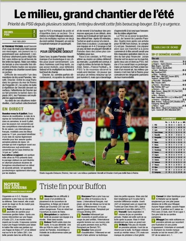 2018 Ligue 1 J38 REIMS PSG 3-1, dans la PQR, le 24/05/2019