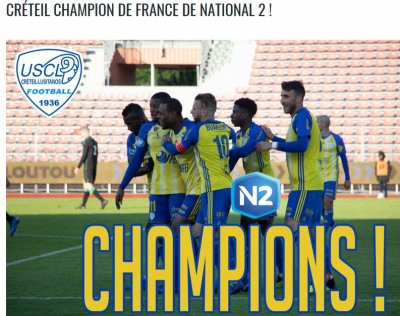 2018 NATIONAL 2 J30 LILLE CRETEIL 4-1, le 18/05/2019