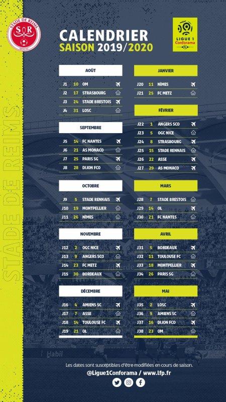 Calendrier Ps.2019 Ligue 1 Calendrier De La Saison 2019 2020 Le 14 06