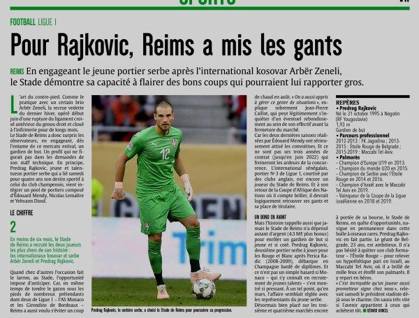 2019 MERCATO : RAJKOVIC, BELLE PRISE dans les FILETS de REIMS, le 22/06/2019