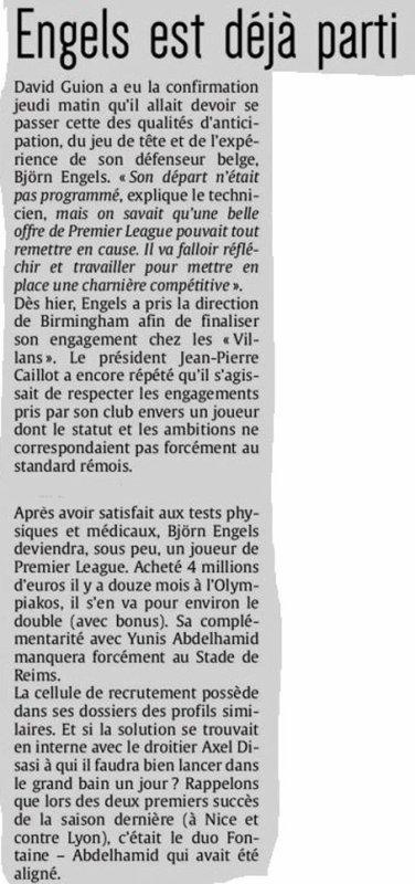 2019 MERCATO : ENGELS FILE à L' ANGLAISE, le 16/07/2019