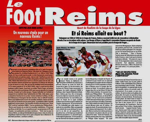 2006 MEDIA : LE FOOT REIMS , du 22/11/2006 au 27/12/2006