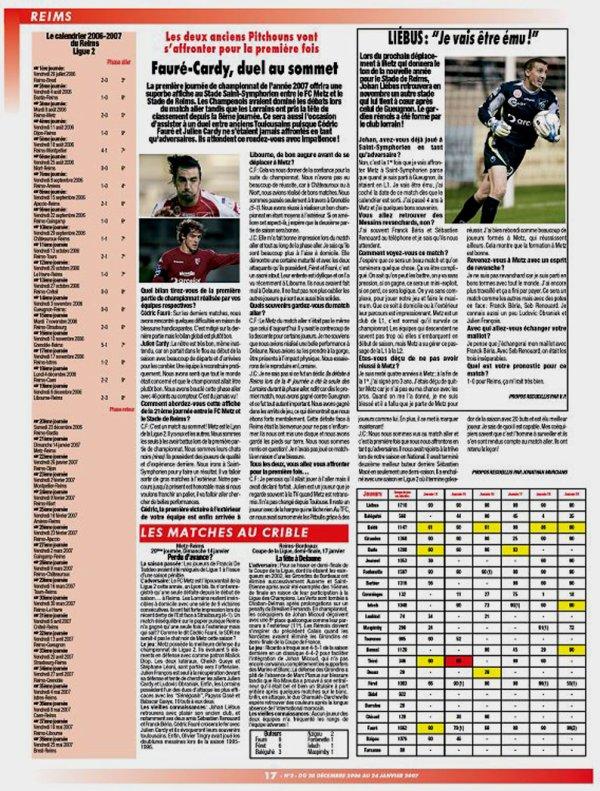 2006 MEDIA : LE FOOT REIMS , du 28/12/2006 au 24/01/2007