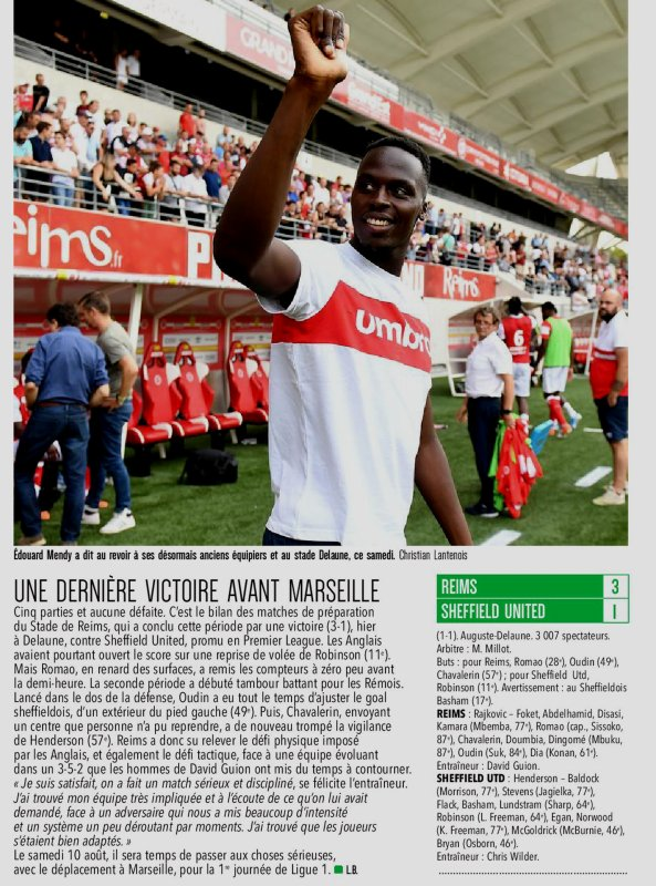 2019 AMICAL REIMS SHEFFIELD UNITED 3-1 , le 03/08/2019