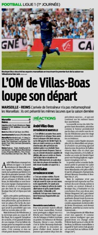 2019 Ligue 1 J01 MARSEILLE REIMS 0-2, le 10/08/2019