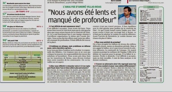 2019 Ligue 1 J01 MARSEILLE REIMS 0-2, dans la PRESSE PHOCÉENNE,le 10/08/2019