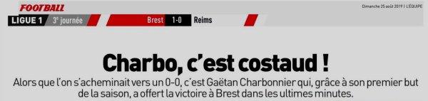 2019 ligue 1 J03 BREST REIMS 1-0, le 24/08/2019