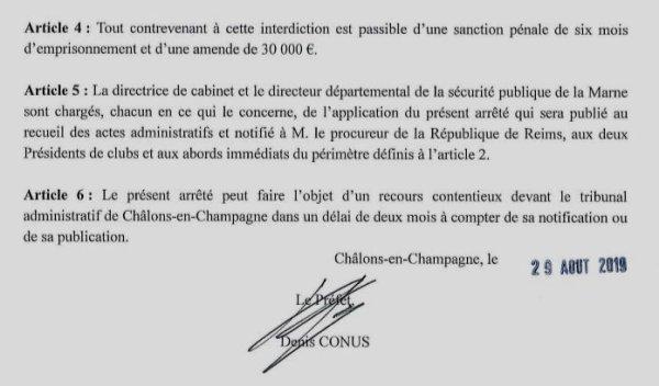 """2019 Ligue 1 J04 UN PREFET """" CONUS """" POUR SES  ARRÊTÉS LÉGAUX et LIBERTICIDES, le 31/08/2019"""