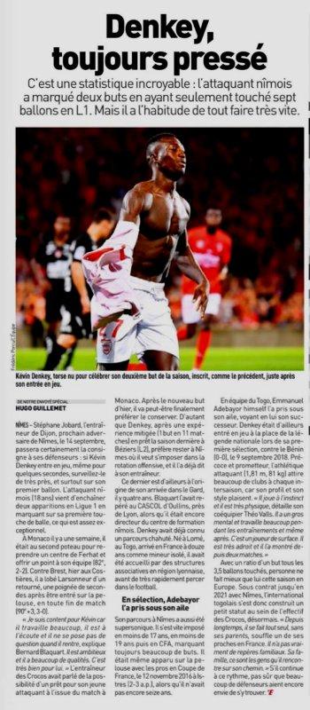 2019 Ligue 1 J04 NIMES BREST 3-0, le 31/08/2019