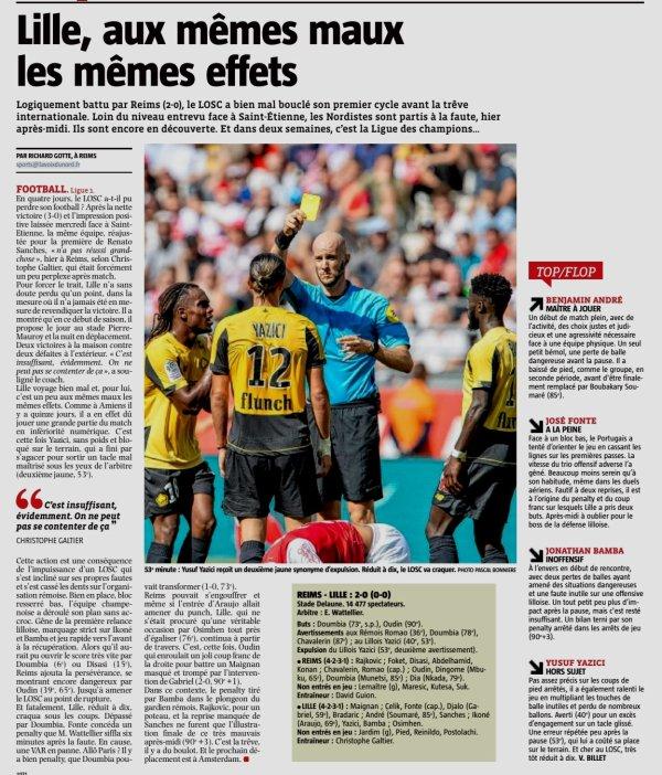 2019 Ligue 1 J04 REIMS LILLE 2-0, dans la PQR, le 01/09/2019