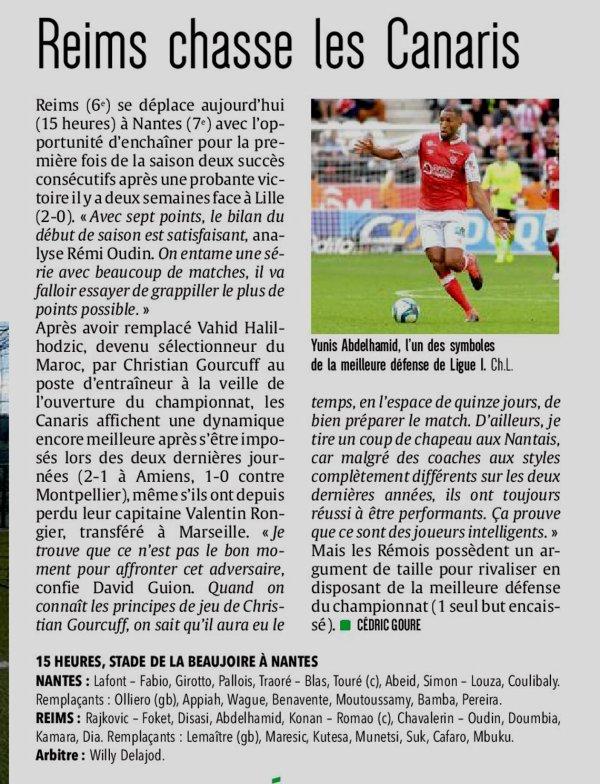 2019 Ligue 1 J05 NANTES REIMS, l'avant match, le 14/09/2019