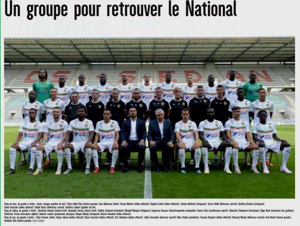 2019 NATIONAL 2 : SEDAN , DOSSIER CENTENAIRE, le 14/09/2019