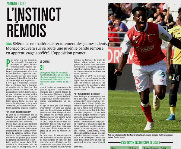 2019 Ligue 1 J06 REIMS MONACO, l'avant match dans la PQR, le 21/09/2019