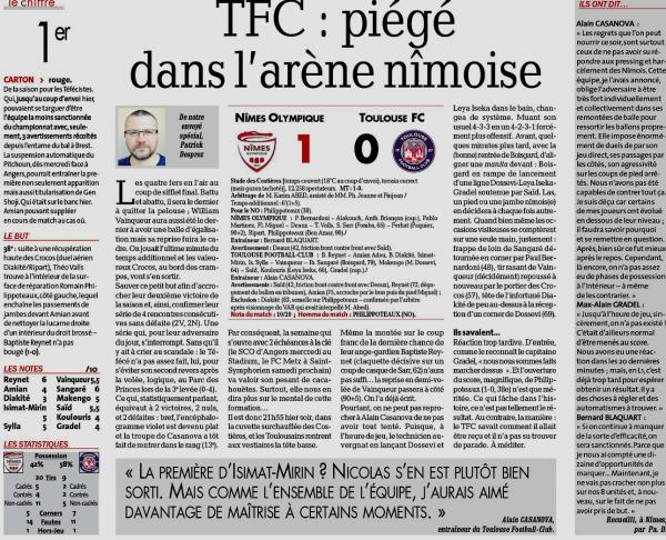 2019 Ligue 1 J06 NÎMES TOULOUSE 1-0, le 21/09/2019