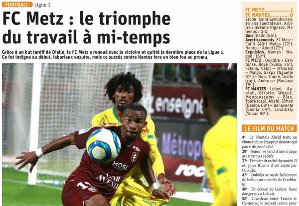2019 Ligue 1 J10 METZ NANTES 1-0, le 19/10/2019