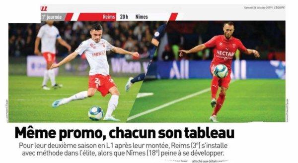 2019 Ligue 1 J11 REIMS NÎMES, l'avant match, le 26/10/2019