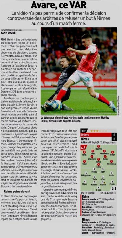 2019 Ligue 1 J11 REIMS NÎMES 0-0, le 26/10/2019