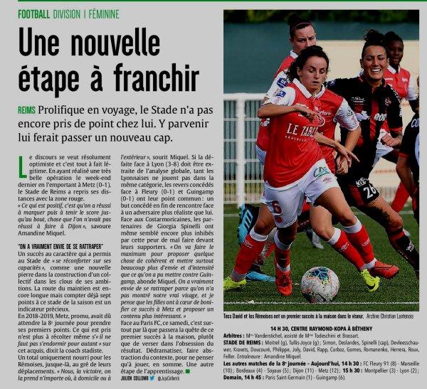 2019 D1 Féminines J08 REIMS PARIS FC 0-1,  le 02/11/2019